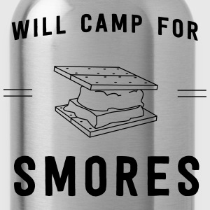 Will camp for smores T-Shirts - Water Bottle