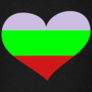 Bulgaria Heart; Love Bulgaria Hoodies - Men's T-Shirt