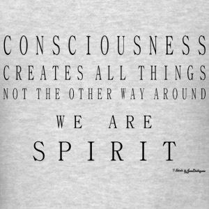 Consciousness Creates All Things - Black Long Sleeve Shirts - Men's T-Shirt