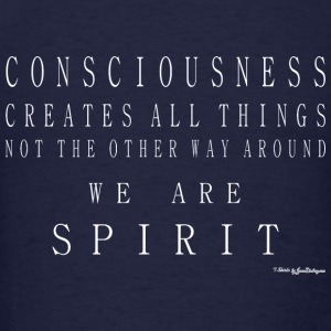 Consciousness Creates All Things - White Long Sleeve Shirts - Men's T-Shirt