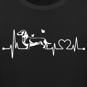 Dachshund Heart Shirt - Men's Premium Tank