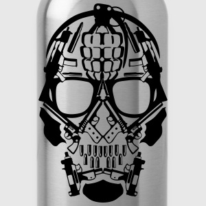 skull form grenade gun revolver 1 T-Shirts - Water Bottle