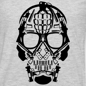 skull form grenade gun revolver 1 T-Shirts - Men's Premium Long Sleeve T-Shirt