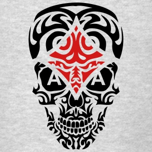 dead head tribal skull ace poker tile Tanks - Men's T-Shirt