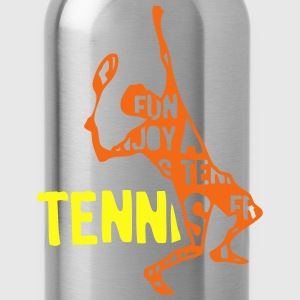 tennis text 204 words Tanks - Water Bottle