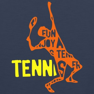 tennis text 204 words Kids' Shirts - Men's Premium Tank