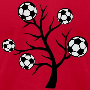 soccer background ball branch Hoodies - Men's T-Shirt by American Apparel