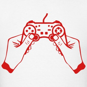 hand joystick game controller paddle Hoodies - Men's T-Shirt