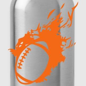 american football ball flame fireball 1 Kids' Shirts - Water Bottle