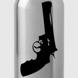 gun pistol revolver 202 Kids' Shirts - Water Bottle
