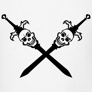 death head sword crosses skull 202 Tanks - Men's T-Shirt