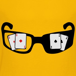 square ace poker glasses Kids' Shirts - Toddler Premium T-Shirt
