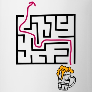 beer labyrinth path mouth T-Shirts - Coffee/Tea Mug