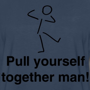 Pull yourself together (Stick Figure) T-Shirts - Men's Premium Long Sleeve T-Shirt