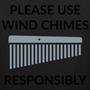 Use wind chimes responsibly / Mens T-Shirt - Men's Premium Tank