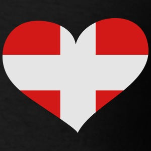 Denmark Heart; Love Denmark Polo Shirts - Men's T-Shirt