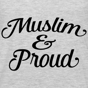 muslim and proud Hoodies - Men's Premium Long Sleeve T-Shirt