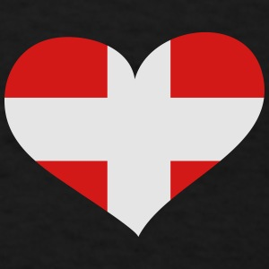 Denmark Heart; Love Denmark Mugs & Drinkware - Men's T-Shirt