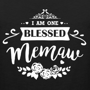 One Blessed Memaw Shirt - Men's Premium Tank