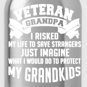 Veteran Grandpa Shirt - Water Bottle