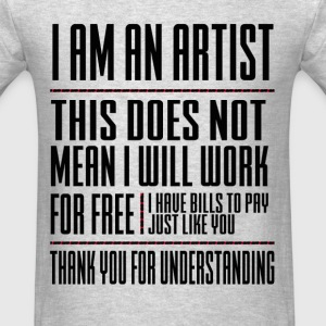 I AM AN ARTIST LONG SLEEVE MEN - Men's T-Shirt