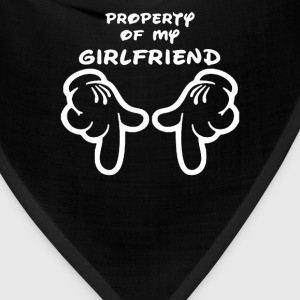Property Of My Girlfriend Cartoon Hands Funny - Bandana