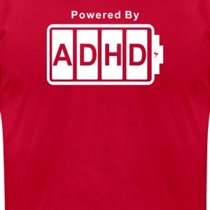 Battery Powered ADHD - Men's T-Shirt by American Apparel