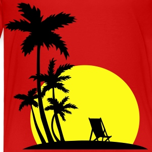 Paradise - Sunset and palm trees Kids' Shirts - Toddler Premium T-Shirt