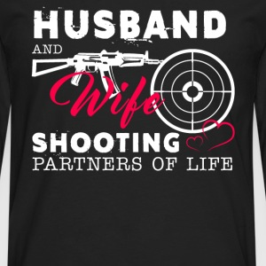 Husband And Wife Shooting Partners Of Life - Men's Premium Long Sleeve T-Shirt