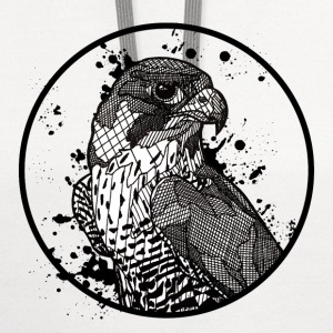 Mens' T Shirt: Peregrine Falcon - Contrast Hoodie