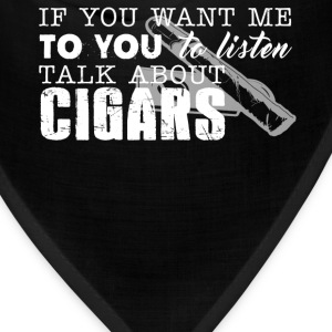 Talk About Cigars Shirt - Bandana