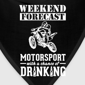 Motorsport Weekend Forecast & Drinking T-Shirt T-Shirts - Bandana