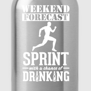 Sprint Weekend Forecast & Drinking T-Shir T-Shirts - Water Bottle