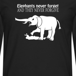 ELEPHANTS NEVER FORGET  - Men's Premium Long Sleeve T-Shirt