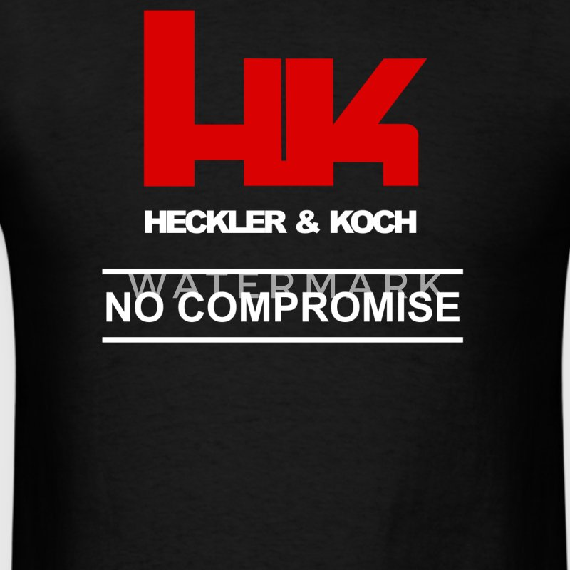 HK Logo Heckler & Koch Firearms No Compromise - Men's T-Shirt