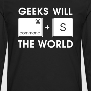 GEEKS will SAVE the WORLD Mac version - Men's Premium Long Sleeve T-Shirt