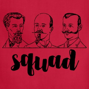 Squad Mustache Men. Vintage Hipster Style Art  - Adjustable Apron