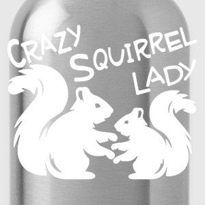 Crazy Squirrel Lady Shirt - Water Bottle