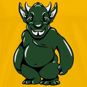 Monster funny duck bird sunglasses T-Shirts - Men's Premium T-Shirt