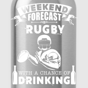 Weekend Rugby Forecast Shirt - Water Bottle