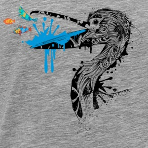 Pelican with fish in its beak Sportswear - Men's Premium T-Shirt