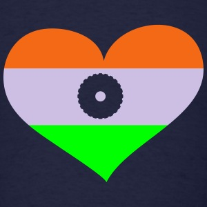 India Heart; Love India Long Sleeve Shirts - Men's T-Shirt