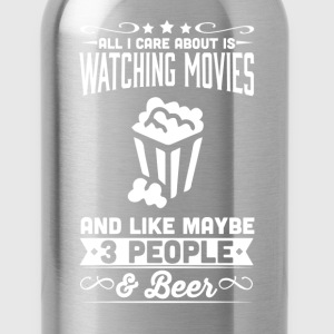 All I Care About  Watching Movies Netflix T-Shirt - Water Bottle