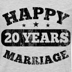 20 Years Happy Marriage T-Shirts - Men's Premium Long Sleeve T-Shirt
