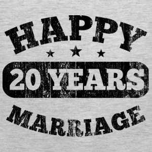 20 Years Happy Marriage T-Shirts - Men's Premium Tank