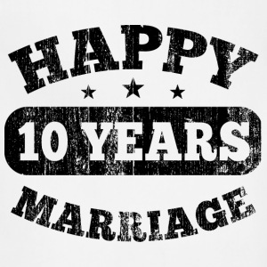10 Years Happy Marriage T-Shirts - Adjustable Apron