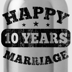 10 Years Happy Marriage T-Shirts - Water Bottle