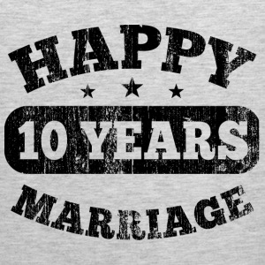 10 Years Happy Marriage T-Shirts - Men's Premium Tank