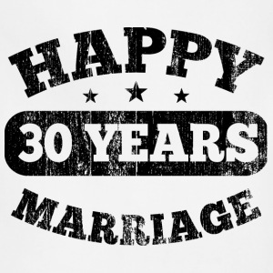 30 Years Happy Marriage T-Shirts - Adjustable Apron