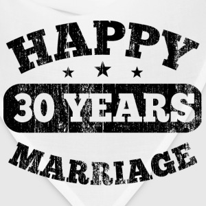 30 Years Happy Marriage T-Shirts - Bandana